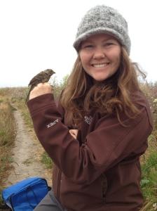 Jenny with sparrow